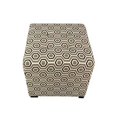 Merton Cott-Ashton Upholstered Cube Ottoman Upholstery: Silver-Leaf