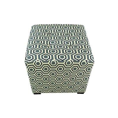 Merton Cott-Ashton Upholstered Cube Ottoman Upholstery: Wedgewood