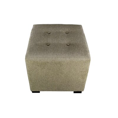 Merton Dawson7 Upholstered Cube Ottoman Upholstery: Brindle