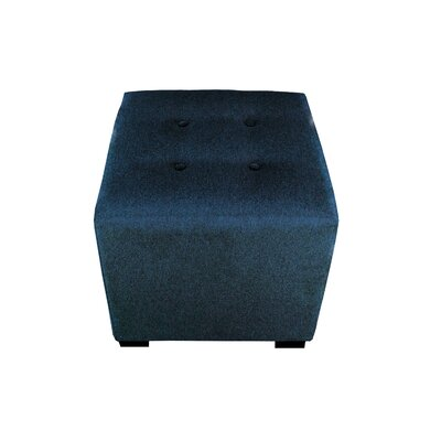 Merton Dawson7 Upholstered Cube Ottoman Upholstery: Eclipse