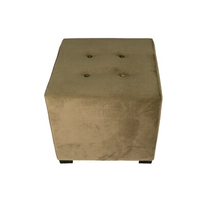 Merton Ennis Upholstered Cube Ottoman Upholstery: Coffee