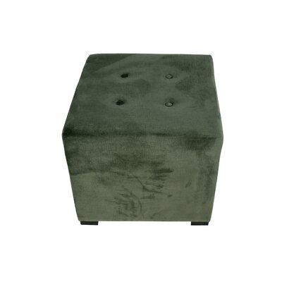 Merton Ennis Upholstered Cube Ottoman Upholstery: Pewter