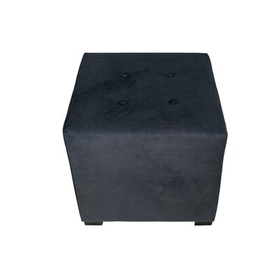 Merton Obsession Upholstered Cube Ottoman Upholstery: Indigo