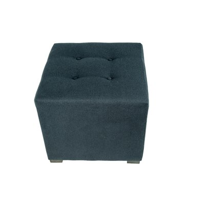 Merton Obsession Cube Ottoman Upholstery: Navy
