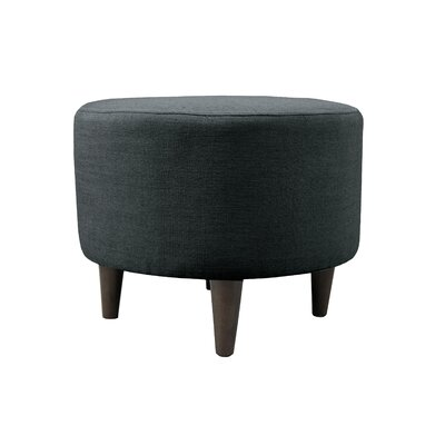 Allure Sophia Round Standard Ottoman Upholstery: Charcoal