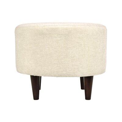 Atlas Sophia Round Standard Ottoman Upholstery: Bone