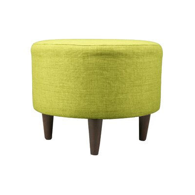 Bennett Sophia Round Standard Ottoman Upholstery: Lime