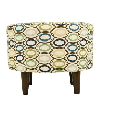 CollVera Sophia Ottoman Upholstery: Cobalt