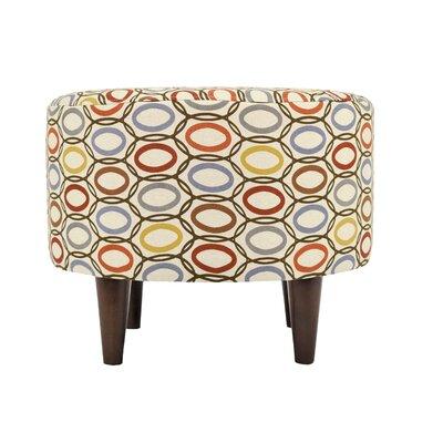 CollVera Sophia Round Standard Ottoman Upholstery: Harvest