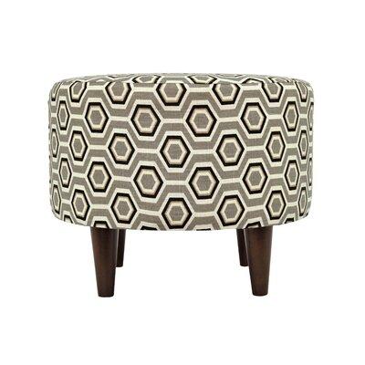 Cott Ashton Sophia Round Standard Ottoman Upholstery: Silver Leaf