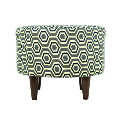Cott Ashton Sophia Round Standard Ottoman Upholstery: Wedgewood
