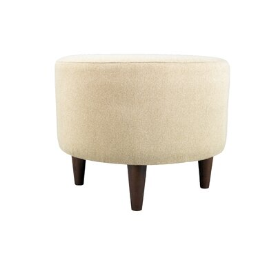 Dawson 7 Sophia Round Standard Ottoman Upholstery: Pismo