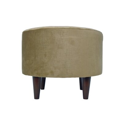Ennis Sophia Round Standard Ottoman Upholstery: Coffee