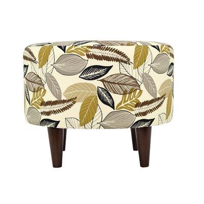 Flora-Foliage Sophia Ottoman Upholstery: Driftwood