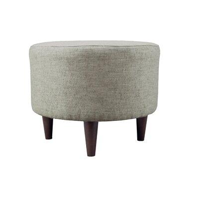 Lucky Sophia Round Standard Ottoman Upholstery: Platinum
