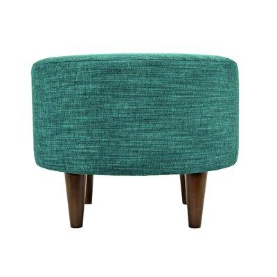 Lucky Sophia Round Standard Ottoman Upholstery: Turquoise