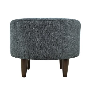 Sophia Round Standard Ottoman Upholstery: Charcoal