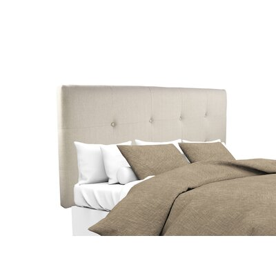 Tilden Upholstered Panel Headboard Upholstery: Khaki, Size: Queen