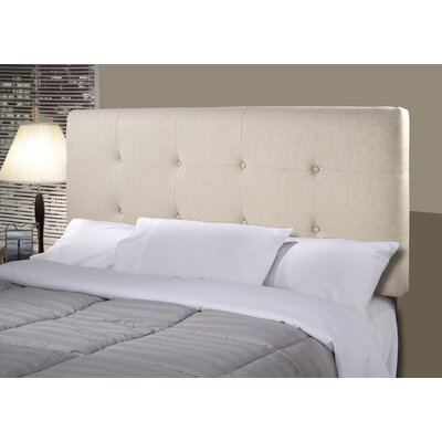 Tilden Upholstered Panel Headboard Size: Twin, Upholstery: Silver Gray