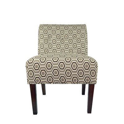 Samantha Button Tufted Cott-Ashton Slipper Chair Upholstery: Silver Leaf