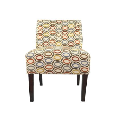 Samantha Button Tufted Coll-Vera Parsons Chair Color: Harvest