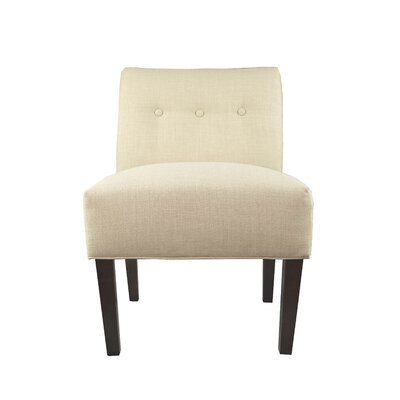 Samantha Button Tufted Slipper Chair Upholstery: Ecru