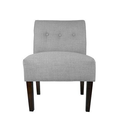 Samantha Button Tufted Slipper Chair Upholstery: Grey