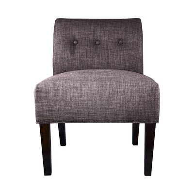 Samantha Button Tufted Slipper Chair Upholstery: Red/Grey