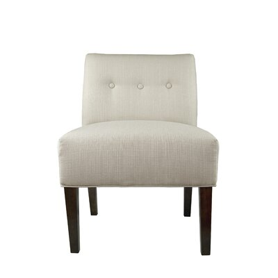 Samantha Button Tufted Sachi Slipper chair Upholstery: Khaki