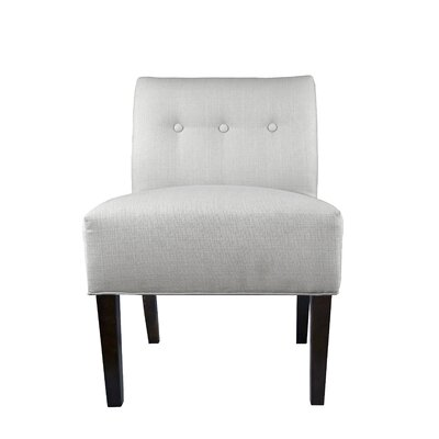 Samantha Button Tufted Sachi Slipper chair Upholstery: Silver