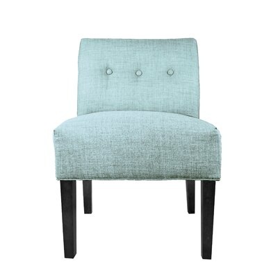 Samantha Button Tufted Slipper Chair Upholstery: Sea Mist