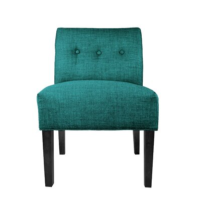 Lucky Slipper Chair Upholstery: Turquoise