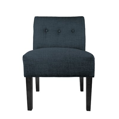 Obsession Slipper chair Color: Navy