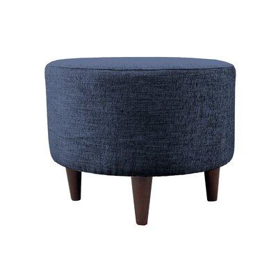 Lucky Sophia Round Standard Ottoman Upholstery: Denim
