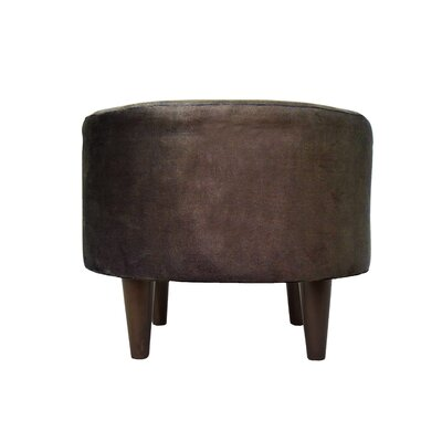 Obsession Sophia Round Standard Ottoman Upholstery: Java