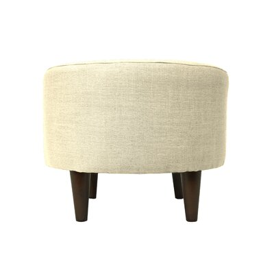 Allure Sophia Round Standard Ottoman Upholstery: Ivory