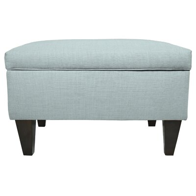 Brooklyn Upholstered Square Legged Box Storage Ottoman Upholstery: Light Blue
