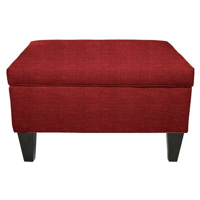 Key Largo Legged Box Storage Ottoman Color: Ruby