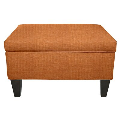 Key Largo Legged Box Storage Ottoman Color: Terra Cotta