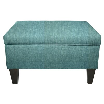 Key Largo Legged Box Storage Ottoman Color: Teal