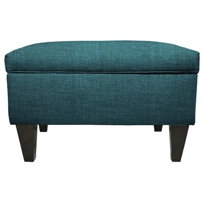 Key Largo Legged Box Storage Ottoman Color: Zenith Teal