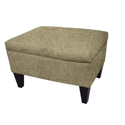 Olivia Legged Box Storage Ottoman Color: Doe