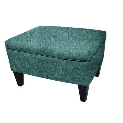 Olivia Legged Box Storage Ottoman Color: Teal