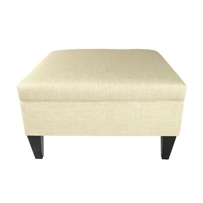 Allure Legged Box Storage Ottoman Color: Ivory