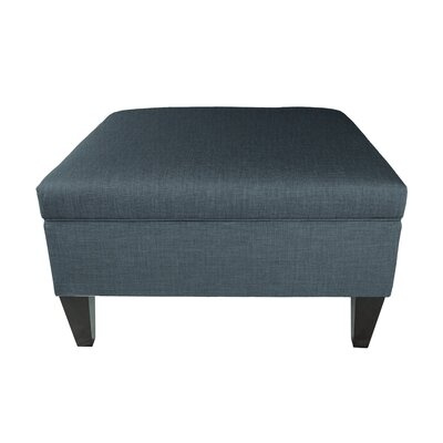 Allure Legged Box Storage Ottoman Color: Denim