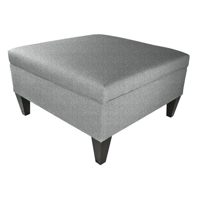 Key Largo Legged Box Storage Ottoman Color: Ash