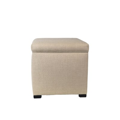 Bobby Jones Mini Sole Secret Shoe Storage Ottoman Upholstery Color: Khaki