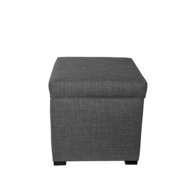 HJM100 Mini Sole Secret Shoe Storage Ottoman Upholstery Color: Gray