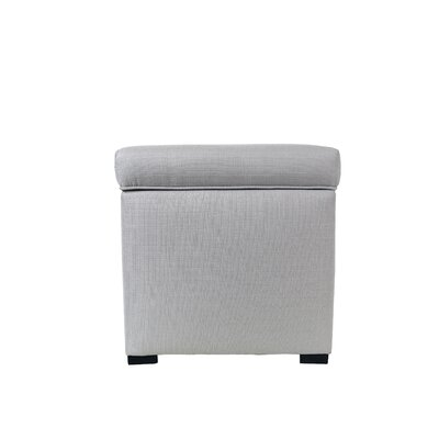 Bobby Jones Mini Sole Secret Shoe Storage Ottoman Upholstery Color: Silver