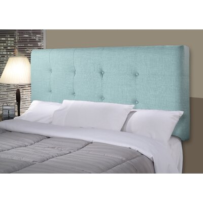 Ali Upholstered Panel Headboard Size: Queen, Upholstery: Sea Mist Green